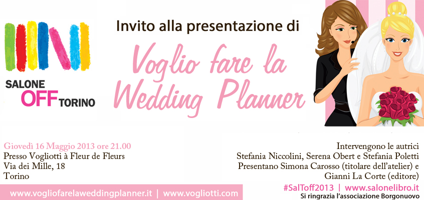 Press Serena Obert - Voglio far la wedding planner salone off Salone del Libro e Itunes