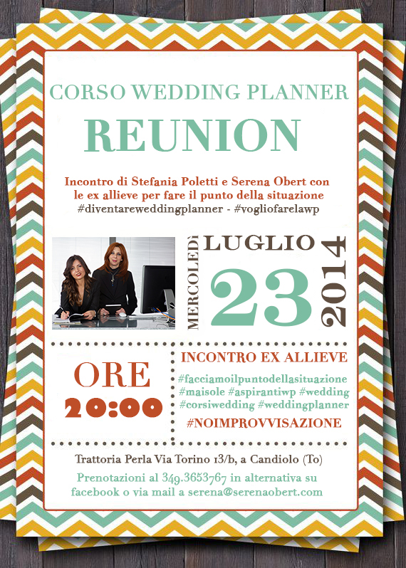 Corso wedding planner - reunion